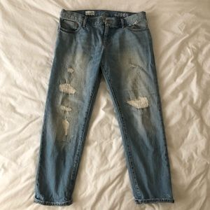GAP Sexy Boyfriend Ripped Patched Jeans Sz 29